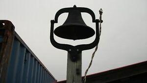 4 Old Cast Iron  School or Farm Bells