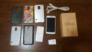 SAMSUNG GALAXY S5+EXTRA BATTERY+5 CASES