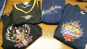 HARLEY DAVIDSON shirts - Lot of 8 - SMALL