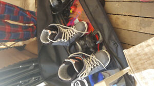 Burton board, bindings and boots