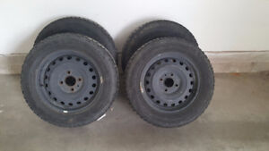 Winterforce Tires on rims for sale - $400.00 obo