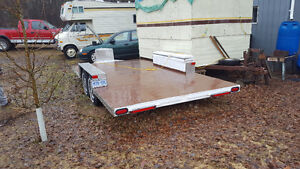 4 AXLE CAR HAULER WITH RAMPS & WINCH.