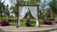Affordable Rustic Wedding Rentals! Wine Barrels and Arches