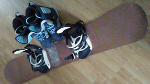Snowboard with Bindings & Boots For Sale
