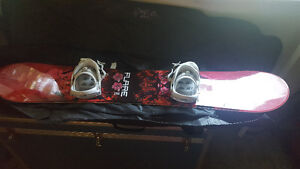 151 firefly snowboard, boots and bindings
