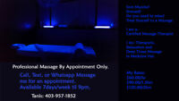 Massage Therapy (Open 7 Days/Week, til 9pm) *By Appointment Only