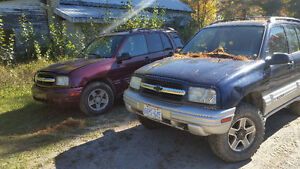 2 Chevy trackers for parts or fix