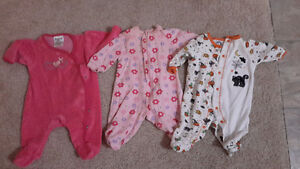 Girls clothes 0-3 months. More than 30 items