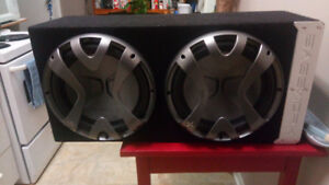 2 really nice Exile 12 inch subs and JBL amp