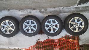 4 mags chromé avec pneu
