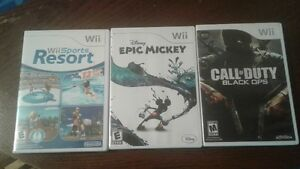 3 Wii games for sale $20.00 each OBO
