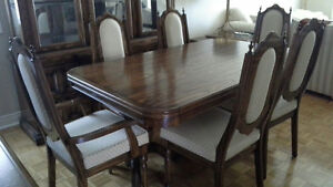 Solid Oak Dining Room Set with Hutch