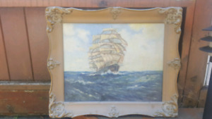 Paintings and antique frames