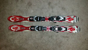 Kids skis/bindings - 100cm