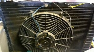 Like new Mustang 3 core stock Rad with electric fan Cambridge Kitchener Area image 1