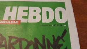 Charlie Hebdo News Paper Gatineau Ottawa / Gatineau Area image 2