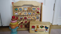 Wooden educational toys ( domino and alphabet )