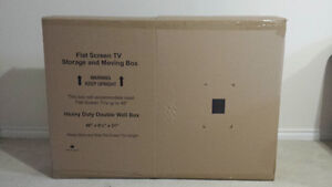 Flat screen TV storage and moving box for tvs up to 46 inches