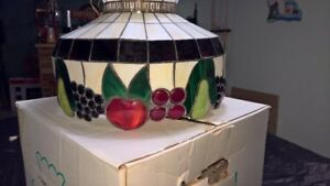 Tiffany Style Stained Glass Fruit Design