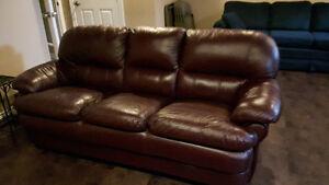 3 piece leather set