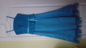 Turquoise tea-length DRESS