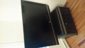 télévision LG 42 pouces avec socle tournant