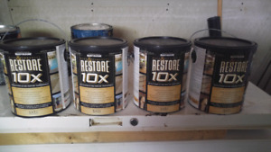 4 Rustolium restore 10X wood or concrete paint
