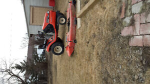 Kubota garden tractor TG1860 w/snowblower and lawnmower