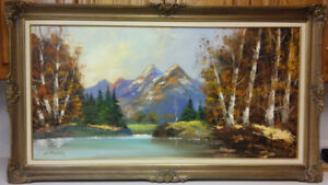 Beautiful vintage listed Canadian artist landscape oil painting