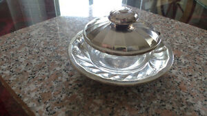 Italian Silver Plated Jelly/Jam Bowl with Lid and Tray North Shore Greater Vancouver Area image 2