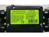 Used Salamander CT 75 XTRA Twin POSITIVE Pump 2.1 bar, as new, £80 ONO