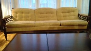 Matching antique sofa and chair