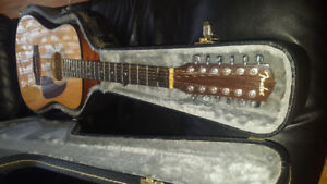 12 String Fender Acoustic Guitar with case