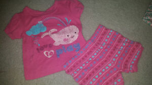 18 month summer pjs EUC