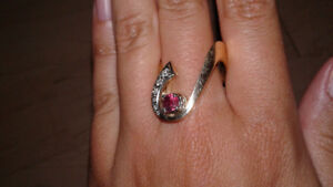 Art Deco Ruby & Yellow Gold Ring