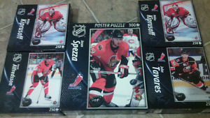 Selling 5 BRAND-NEW Hockey Top-Dog Collector's Puzzle Peices.