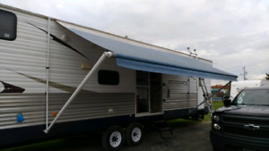 24 foot awning from trailer