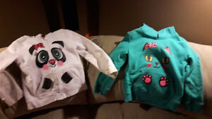 Girls size 6 hoodies