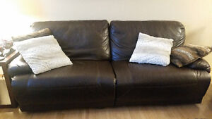 Leather Reclining Couch