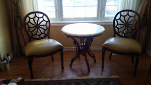 MAGNIFICIENT CHIPPENDALE ACCENT CHAIRS