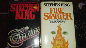 Stephen King hard cover books for sale $20 each.