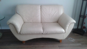 2 Italian leather loveseats