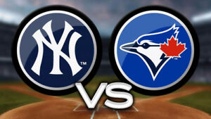 Jays vs Yankees Sep 22- Row 1 100 lvl tickets 50% off face value