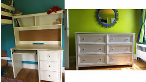 youth desk, hutch and dresser set