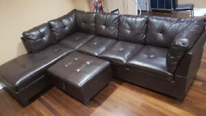 Reduced price! - Leather sofa on sale