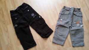 NEW pants girls - size 2/3, boys- size 18 months - $5 each