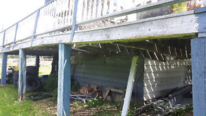 Will Tear Down and Remove Veranda Decking and Railing