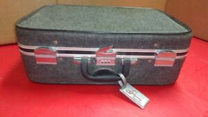 old style tweed luggage