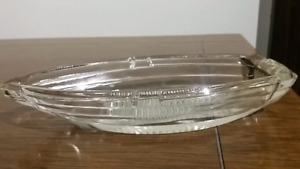 Made in USA Patented Glass Boat Trinket Dish