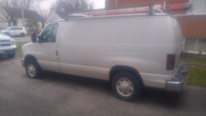 2009 Ford E-150 Cargo Van, Shelves and ladder rack